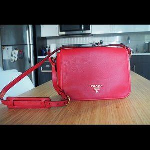 Red Medium Prada Flap Crossbody